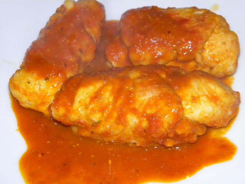 Involtini di tacchino con salsa Goji