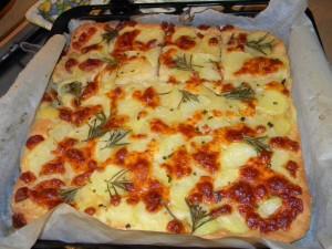Pizza patate farina Molino Chiavazza