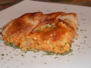 Torta rustica con zucca, patate, sbrinz e gruyère