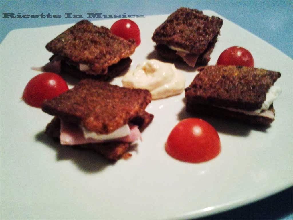 mozzarella in carrozza con 5 tipi di pane integrale pema