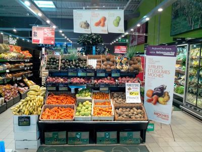 Inglorious fruits and vegetables nei supermercati Intermaché