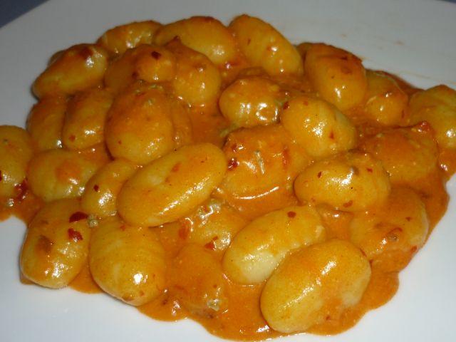 gnocchi nduja e gorgonzola