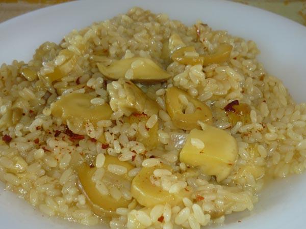 risotto con ovoli