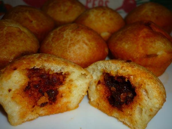 muffin al formaggio con cuore di 'nduja