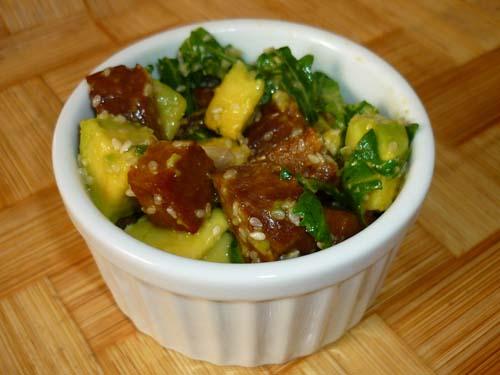 insalata tiepida di seitan e avocado
